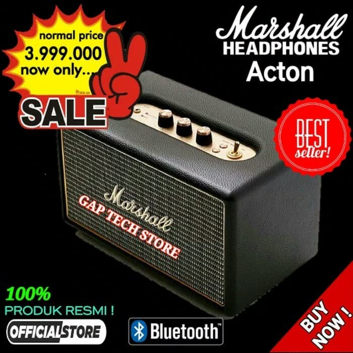 harga Marshall acton hi-fi bluetooth speaker original Tokopedia.com