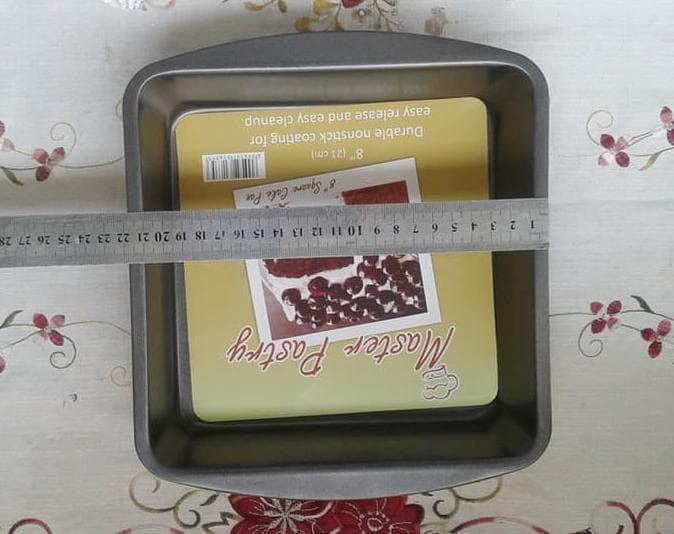 Jual Hot Sale Loyang Kue Teflon Anti Lengket Square Cake Pan 8 In