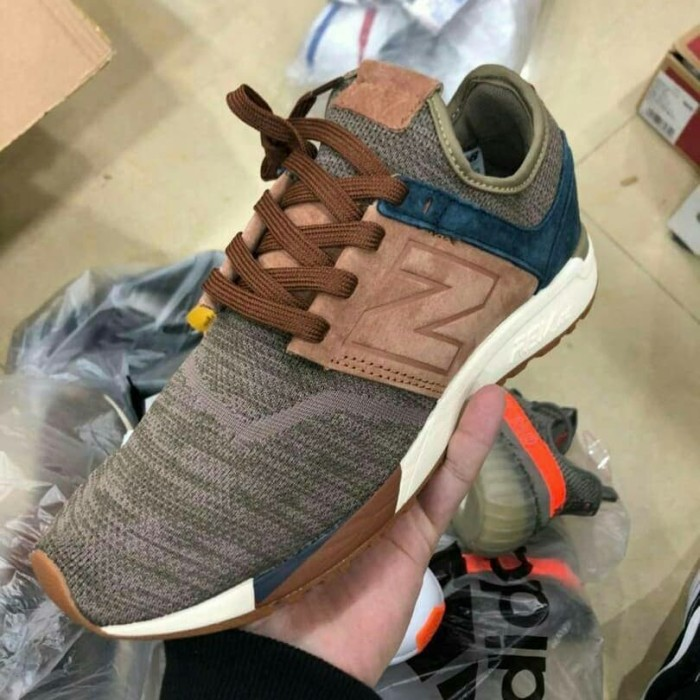 jual new balance 247 luxe knit pack brown