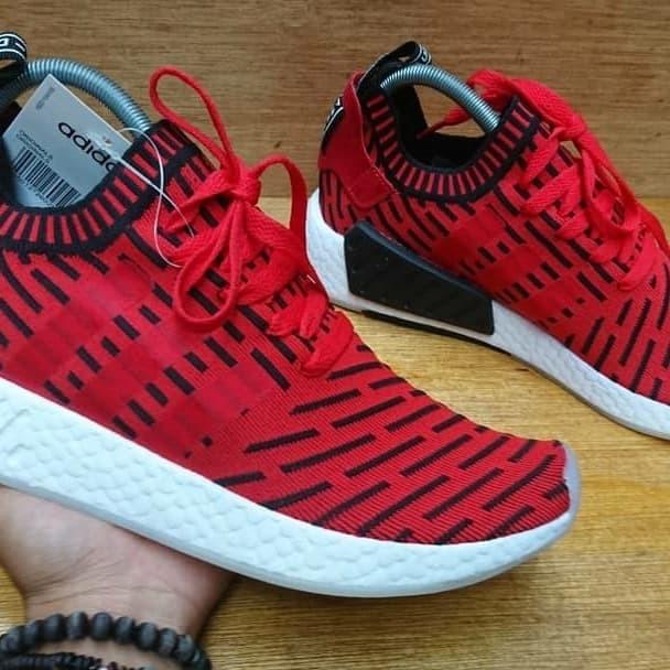 the latest 2f3b1 d9d0a Jual ADIDAS NMD R2 PK PRIMEKNIT BOOST RED BLACK WHITE ORIGINAL - Kota  Tangerang - budjank sneakers   Tokopedia