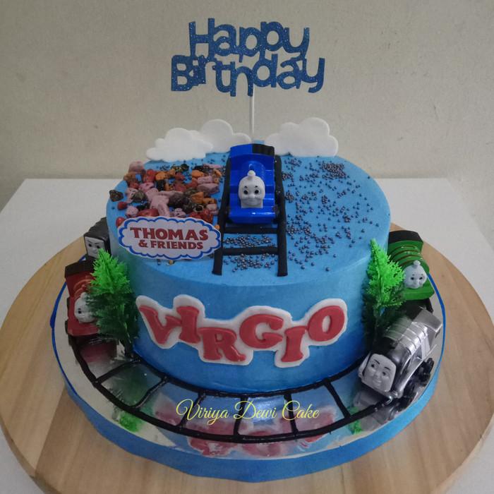 Fantastic Jual Thomas Birthday Cake Kota Tangerang Bakingstore Tokopedia Personalised Birthday Cards Paralily Jamesorg