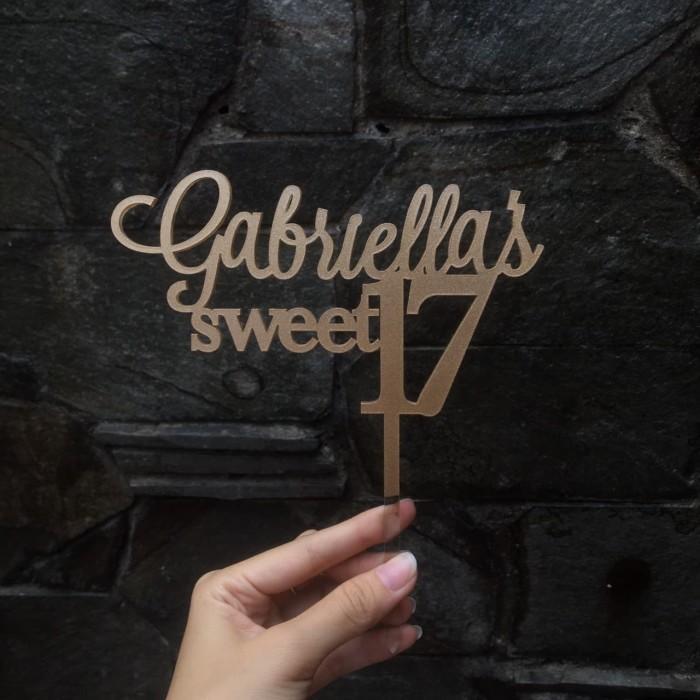 harga Caketopper sweet 17 | size 13 cm | bisa custom tulisan Tokopedia.com
