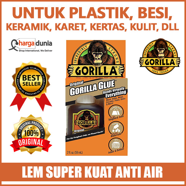 harga Gorilla glue waterproof polyurethane glue 59 ml original usa Tokopedia.com