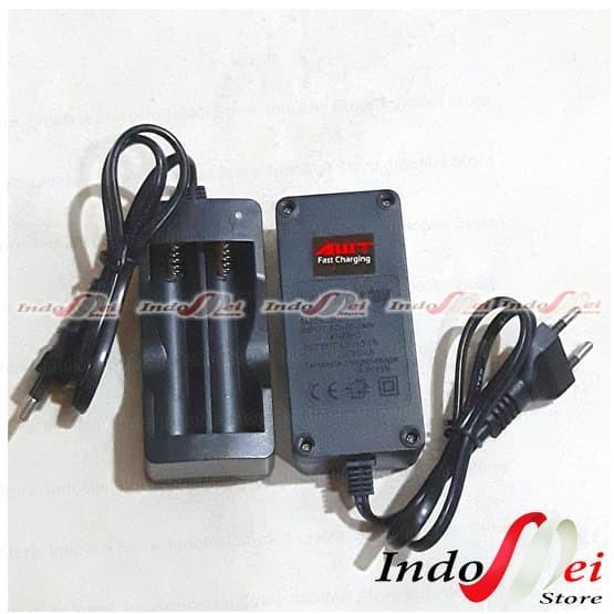 Foto Produk Fast Charger Dekstop Kabel 2 Slot For Battery 18650 - AWT Samsung Son dari Indomei Store