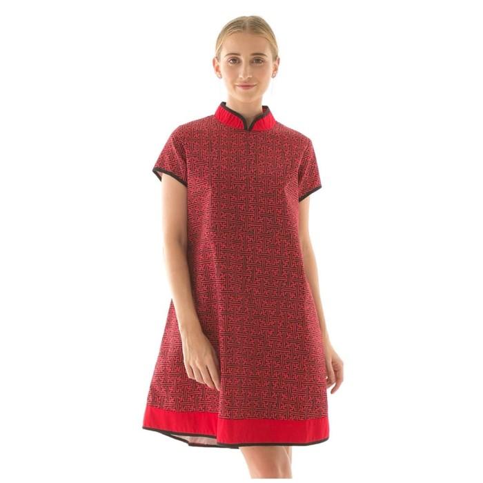 harga Shanghai dress in benji red beatrice clothing Tokopedia.com