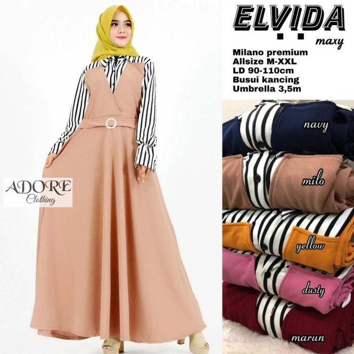 Jual Elvida Maxy Baju Gamis Wanita Muslim Gaul Kota Surakarta Vivien Collection Tokopedia