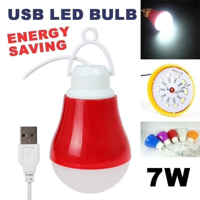 Lampu Bohlam USB LED Lampu Bohlam 7 Watt Emergency RANDOM