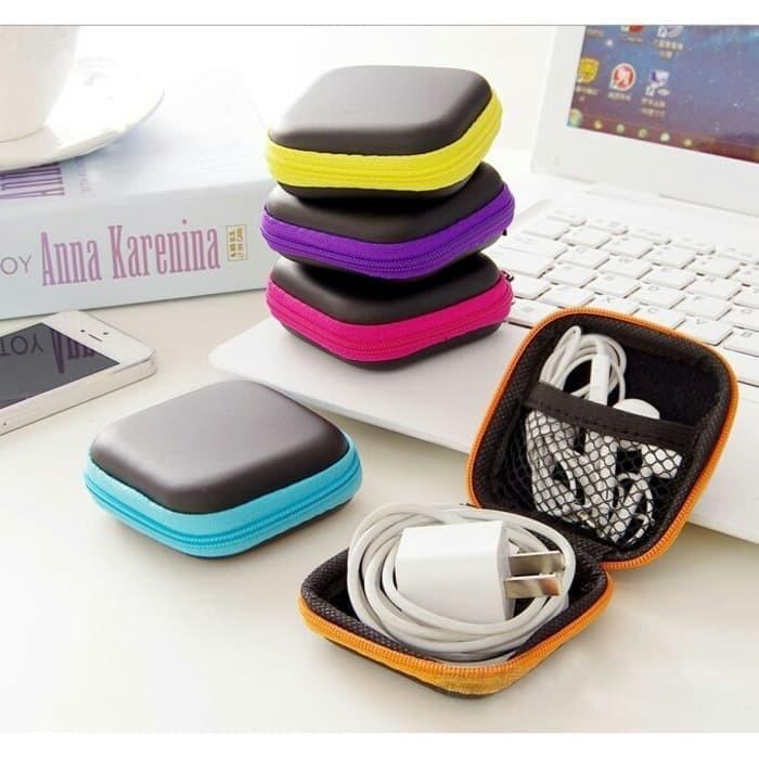 Kotak Headset Box Dompet Headset Tempat Penyimpanan Serbaguna