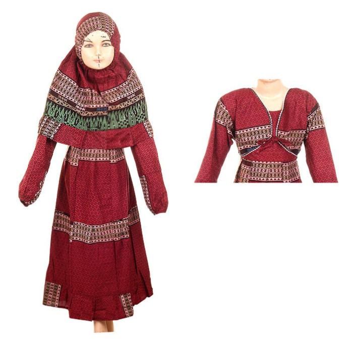 Gamis Anak Plus Jilbab Fadya Usia 8-12 tahun