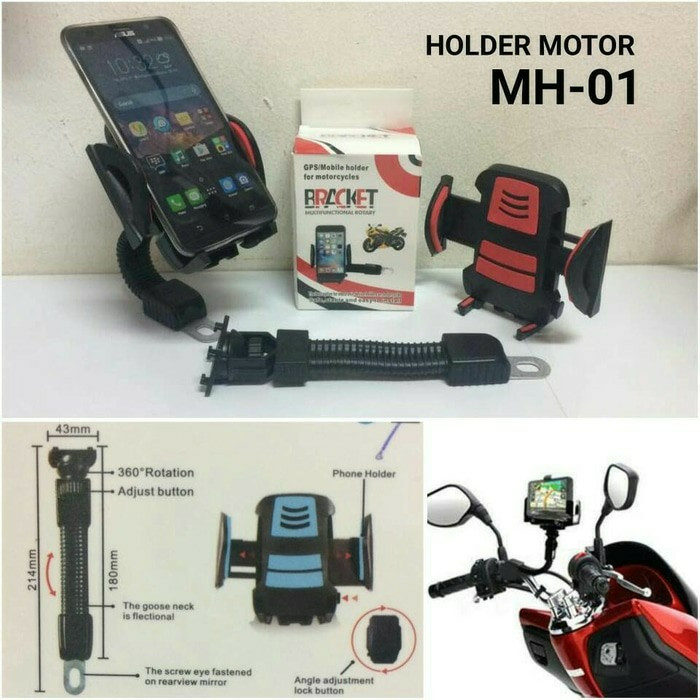 Holder Phone Jepitan HP Di Motor Holder HP Motor RANDOM