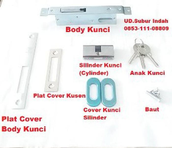Foto Produk Body Kunci Pintu Swing VGlass-5124 Murah peralatan dari atmarinishop
