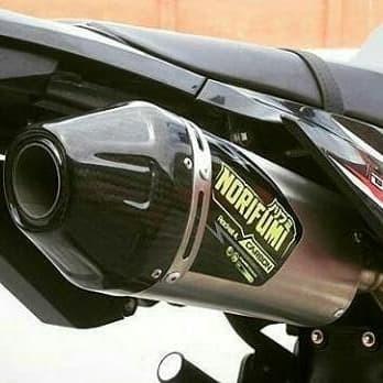 Foto Produk KNALPOT NORIFUMI ROCKET 1 FOR CRF150L KLX BFSE S L G KLX DTRACKER - Hitam dari NHK_Exhaust System