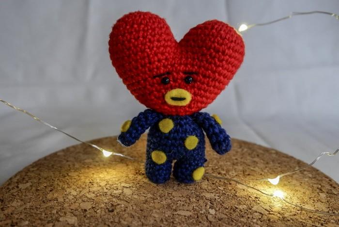 Heart for mom Tata PDF crochet pattern BT21 BTS Korean Band | Etsy | 468x700