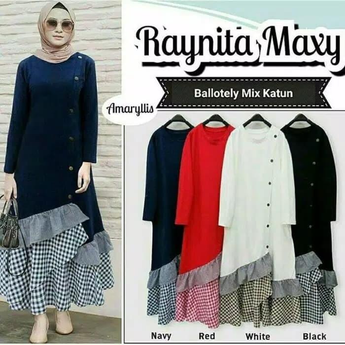 Foto Produk Raynita maxi dress / bajumuslim / gamismurah / bajuhijab dari D&Nsweter