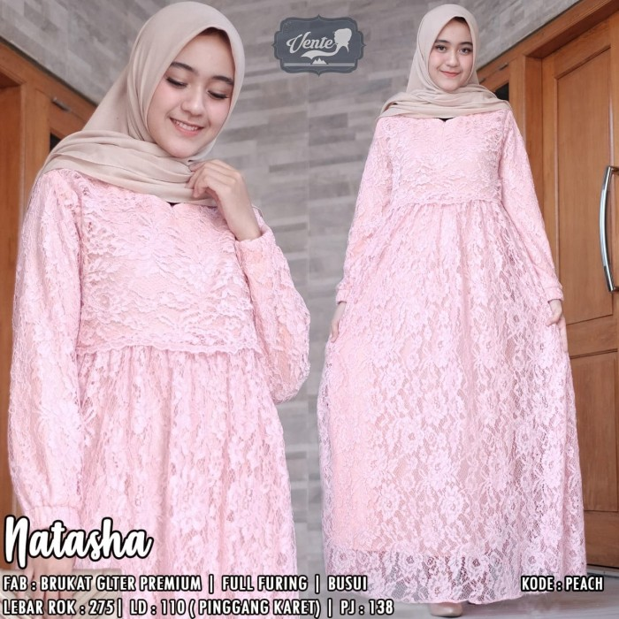 harga Ve- natasha dress / maxi brokat cantik / dress muslim Tokopedia.com