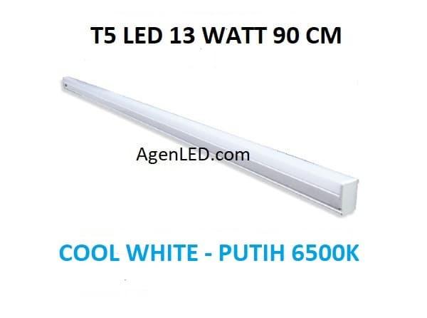 Foto Produk Lampu TL Neon T5 LED 13W 90cm Tube 90 cm 13 w watt WHITE PUTIH 14 15 dari AgenLED