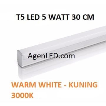 Foto Produk Lampu TL Neon T5 LED 5W 30cm Tube 30 cm 5 w watt WARM WHITE KUNING 4 6 dari AgenLED