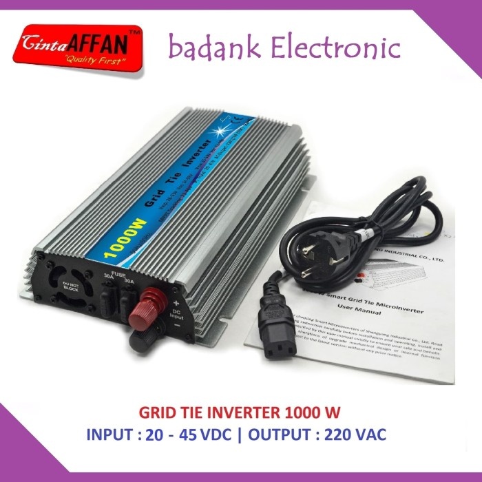 harga Solar pv inverter on grid tie 1000w solar panel surya / plts Tokopedia.com