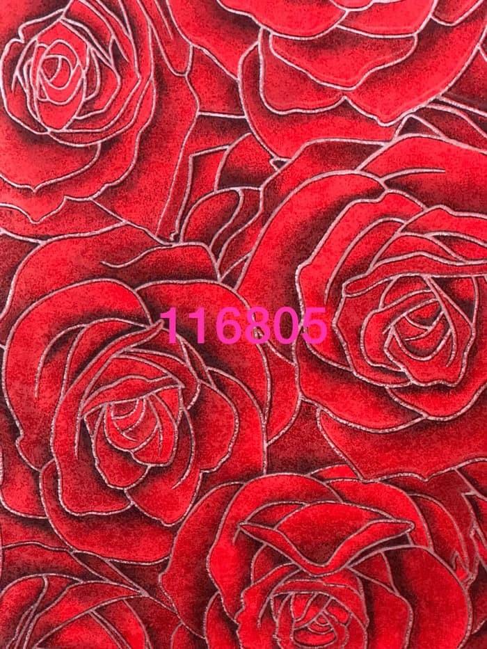 Jual Wallpaper Dinding Motif Bunga Rose Merah Mewah Kota Bekasi Indah Wallpaper Tokopedia
