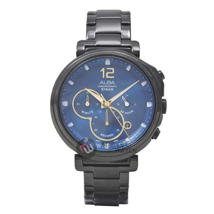 Jam tangan pria original alba at3e21 black blue