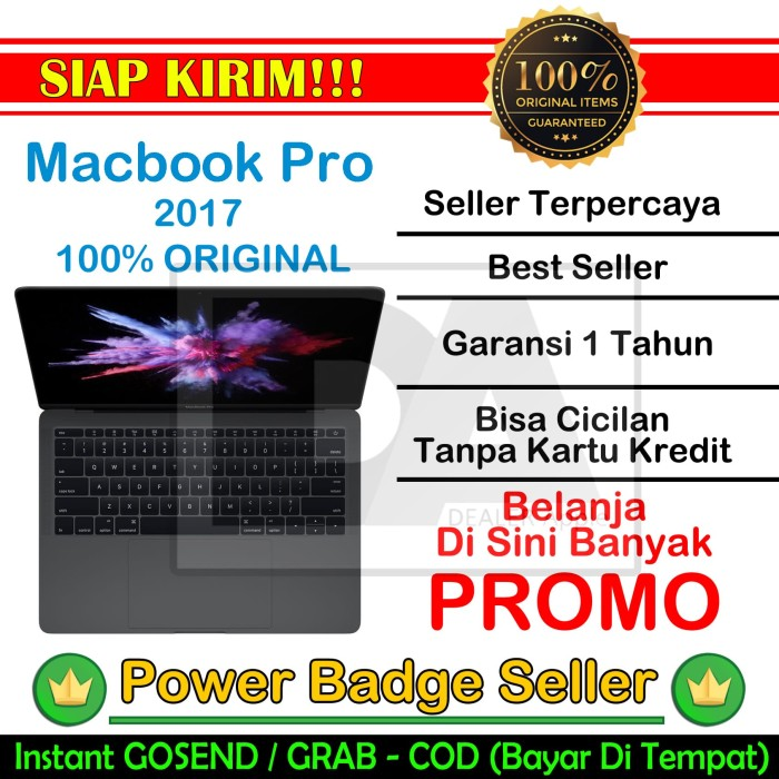 harga Apple macbook pro 2017 mpxq2 - grey |13  2.3ghz dualcore i5 8gb/128gb Tokopedia.com