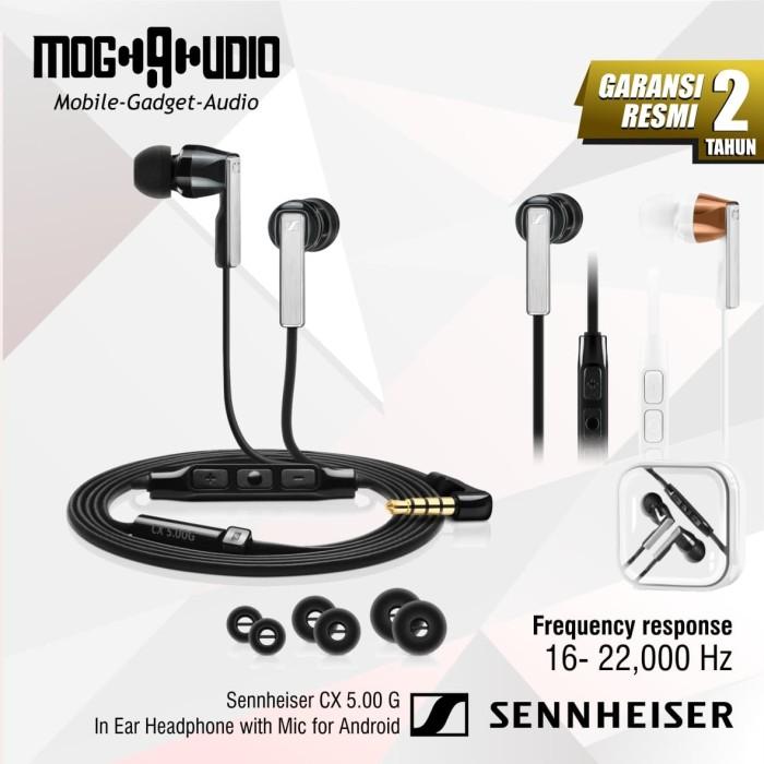 harga Sennheiser cx 5.00 g / cx5.00g in ear headphone with mic for android - putih Tokopedia.com