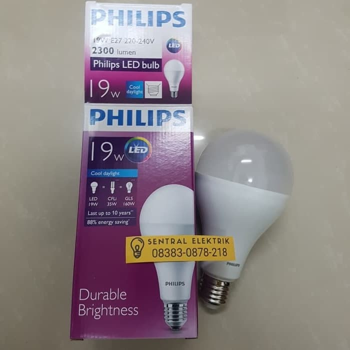Lampu led bulb 19w 19 watt 19 w Putih Philips Garansi 2th ledbulb