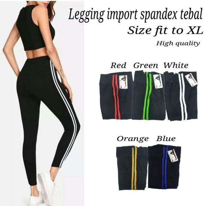 Jual Legging List Import Ro Celana Legging Wanita Spandek Varian Warna Putih Jakarta Pusat Fashionista S Grosir Tokopedia