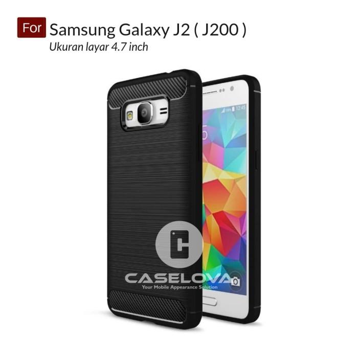 Foto Produk Case For Samsung Galaxy J2 ( J200 ) Softcase iPAKY Carbon dari Caselova Store