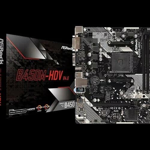 Foto Produk ASRock B450M-HDV (AM4, AMD Promontory B450, DDR4, USB3.1, SATA3) dari distributorkomputer