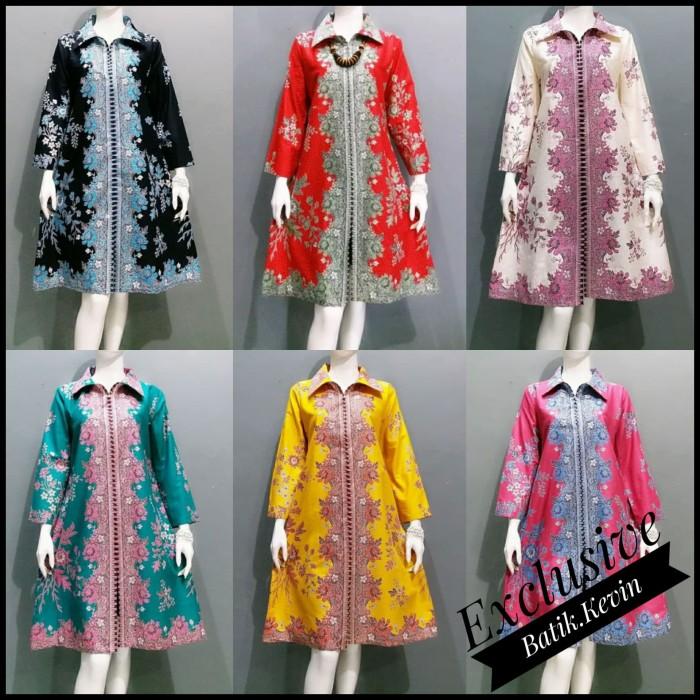 Jual Baju Atasan Jumbo Tunik Baju Batik Wanita Baju Kantor Batik Xs Kota Pekalongan Batik Kevin Tokopedia