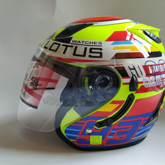Jual Helm ARL Centro Double Visor Lotus Marquez 93 Kuning