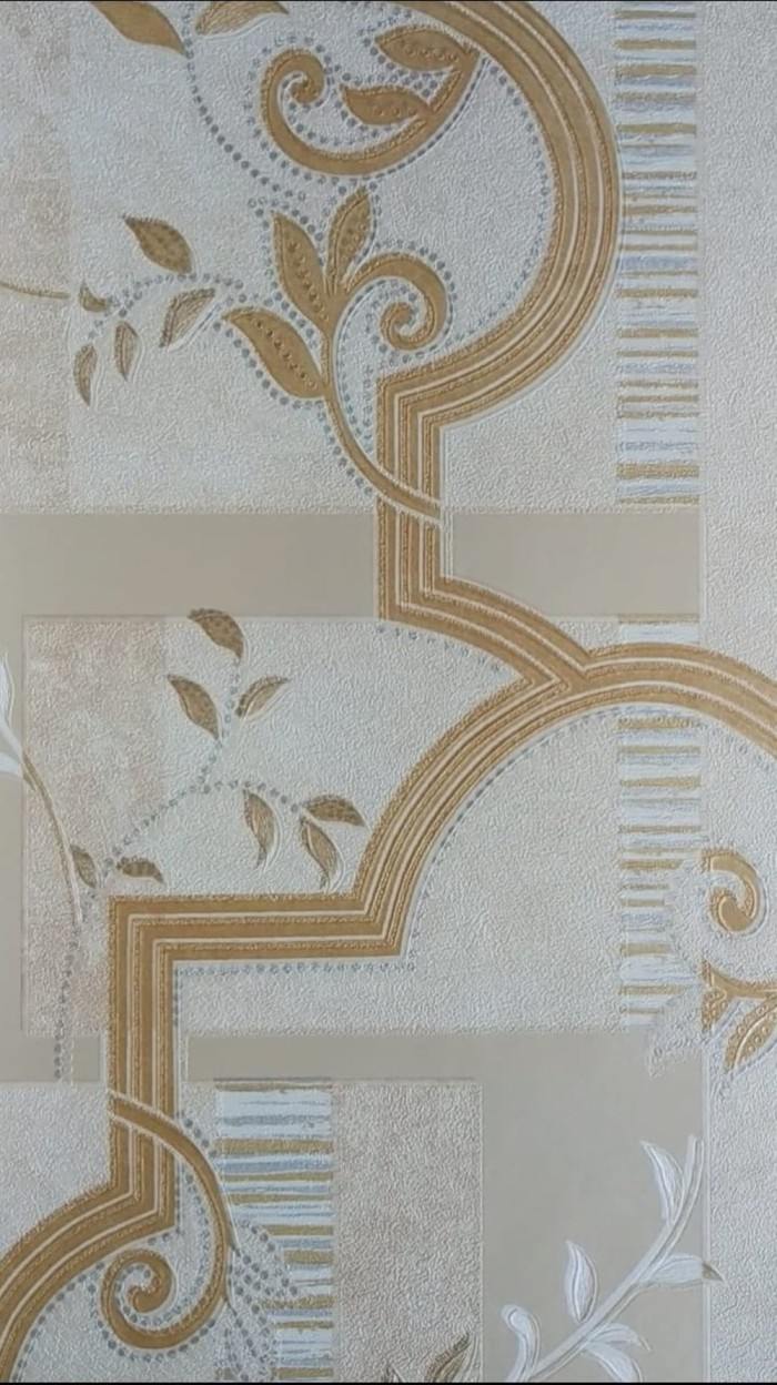Jual TERJAMIN Wallpaper Dinding Motif Batik Daun MNAO Kota Surabaya Nirwana Mart