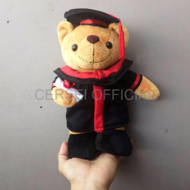 Jual Boneka Bantal Lucu Boneka Animasi Boneka Teddy Bear Toga Wisuda Gradu Jakarta Barat Cersei Official Tokopedia
