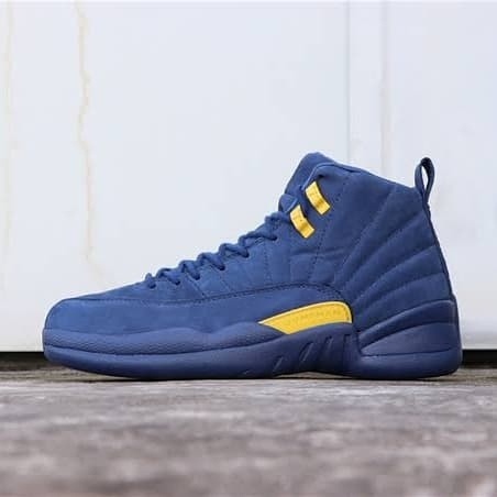 579904a8d5461a Harga Jual Sepatu Basket Nike Air Jordan 12 Retro Michigan Di ...