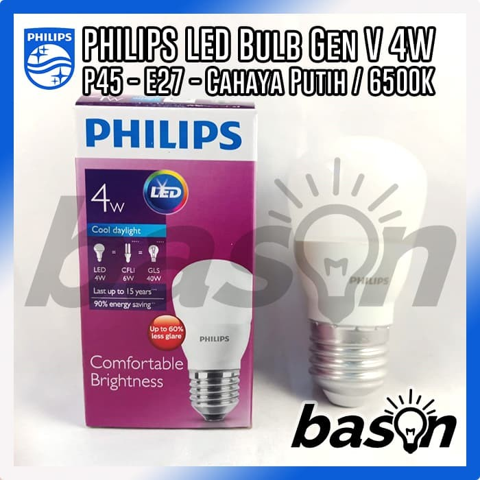 PHILIPS LED Bulb 4W CDL   Putih - Gen V