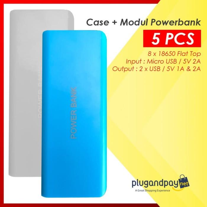 Foto Produk Casing Powerbank+mesin / Modul powerbank isi 5 buah slot baterai 18650 dari plugandpay