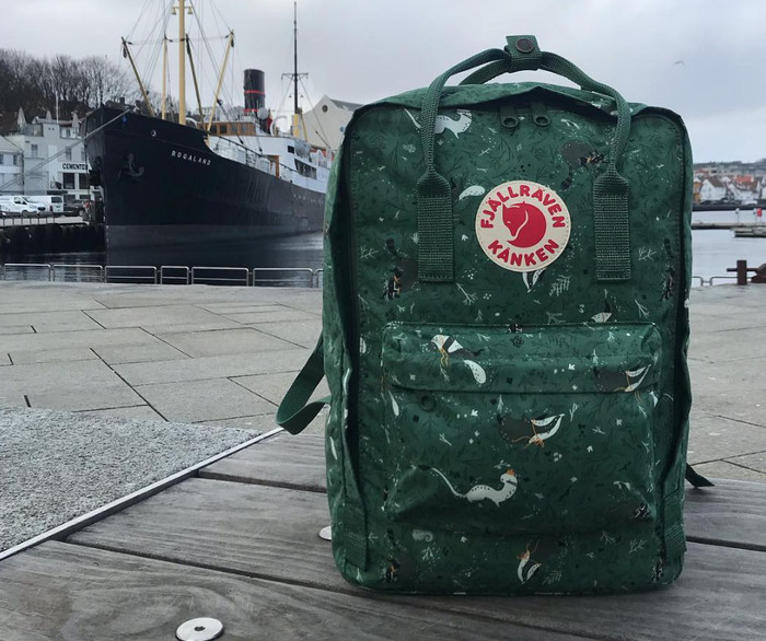 69099e781b7 Jual Fjallraven Kanken Classic ORIGINAL Art Green Fable Backpack ...