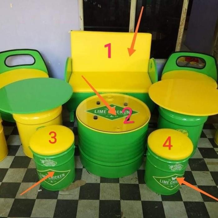harga Meja kursi drum medium set (1 sofa double+1 meja+2 kursi drum mini) Tokopedia.com