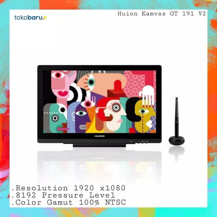 harga Huion kamvas gt-191 monitor pen tablet Tokopedia.com