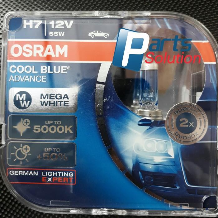 Foto Produk Bohlam OSRAM H7 Cool Blue Advance Putih 12V 55W Original dari Parts Solution
