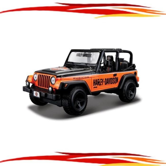 Custom Jeep Rubicon >> Jual Maisto 1 27 Hd Custom Jeep Wrangler Rubicon Black Orange Dki Jakarta Rezeki 0010 Tokopedia