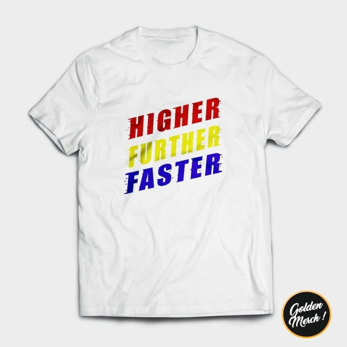 Captain Marvel Movie Higher Further Faster Graphic T Shirt Black Cotton