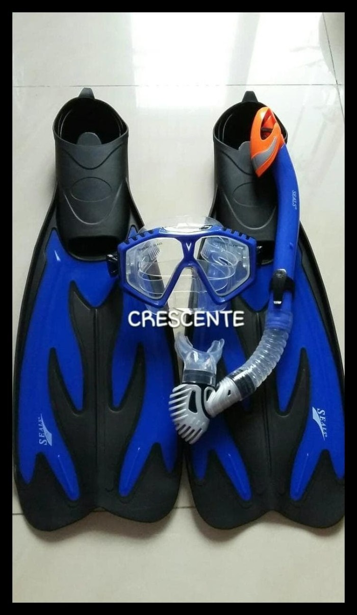 Set alat snorkeling/snorkling/selam/diving seals+fin/kaki katak seals