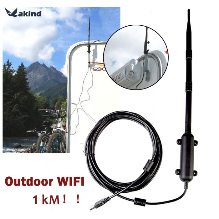 Outdoor Wifi Receiver 2.4Ghz 150Mbps USB Wireless Adapter 13 DBI Antenna ND