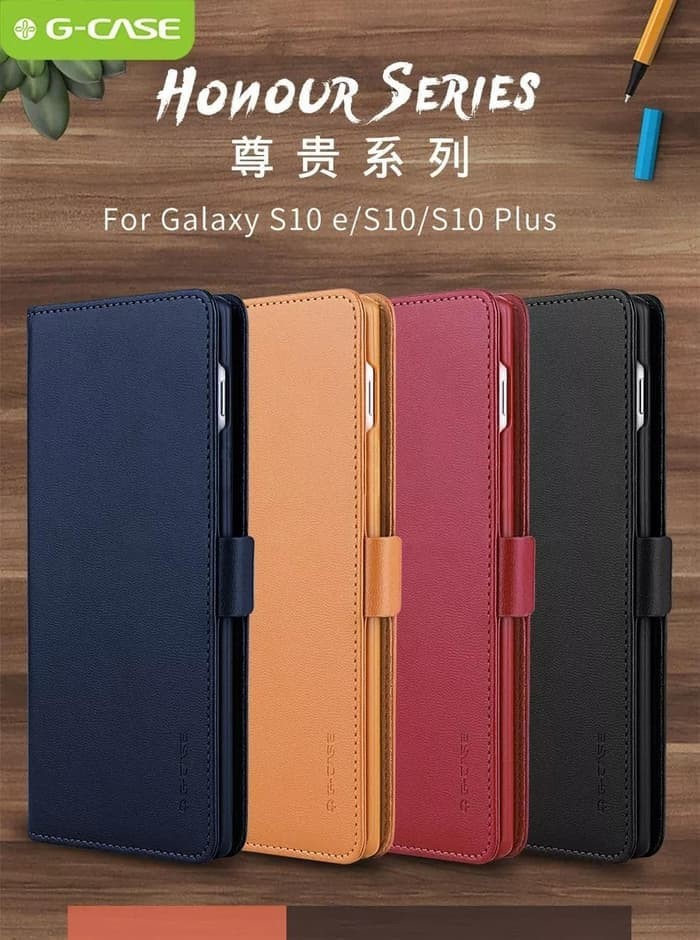 harga Samsung galaxy s10 lite / s10e g-case honour flip case leather book Tokopedia.com