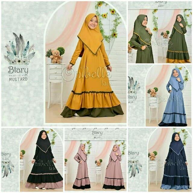 Foto Produk Btary Kids Syarii 6-8/ Baju Muslim Anak Perempuan / Gamis Setelan Anak dari B.O.M baju online murah