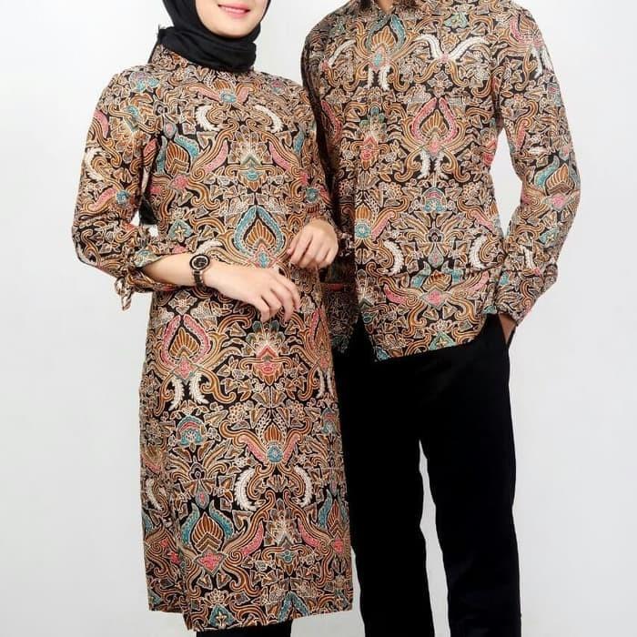 Jual Couple Tunik Batik Baju Batik Couple Tunic Sarimbit Batik Terbaru Kota Pekalongan Ilul Sy Batik Tokopedia
