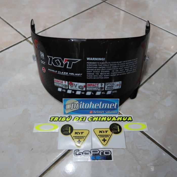 Foto Produk Visor Flat Dark Kyt Rc7 R10 K2rider Original Free Sticker dari yogyakarta helmet