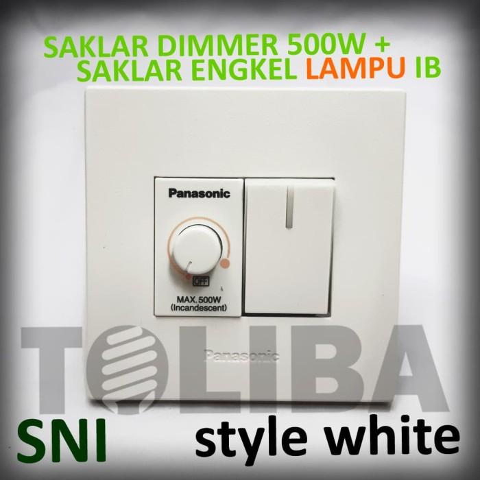 Jual Saklar Engkel Lampu Saklar Dimmer 500w Saklar Minimalis Panasonic Jakarta Barat Toliba Tokopedia